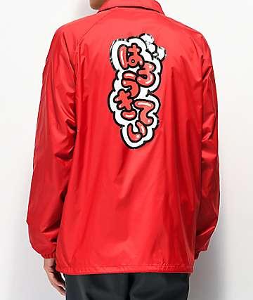 Girl x Hello Kitty 45th Anniversary Katakana Red Coaches Jacket