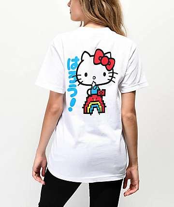 Girl x Hello Kitty 45th Anniversary Rainbow & White T-Shirt