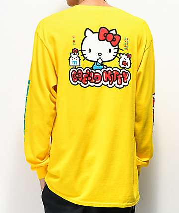 Girl x Hello Kitty 45th Anniversary Yellow Long Sleeve T-Shirt