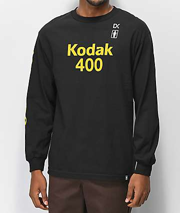 Girl x Kodak Gold 400 Black Long Sleeve T-Shirt