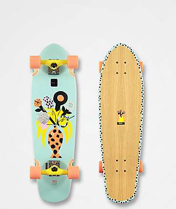 "Globe Big Blazer Palm Fish 32"" Cruiser Complete Skateboard"