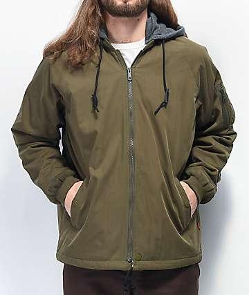 Globe Blitz Olive Hooded Bomber Jacket