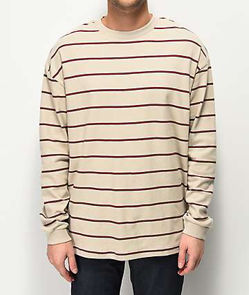 Globe Dion Agius Light Brown Stripe Long Sleeve Shirt