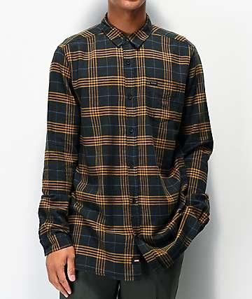 Globe Dock Gold & Green Flannel Shirt