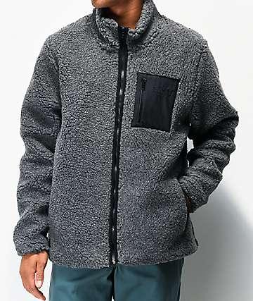 Globe Fakie Teddy Grey Sherpa Jacket