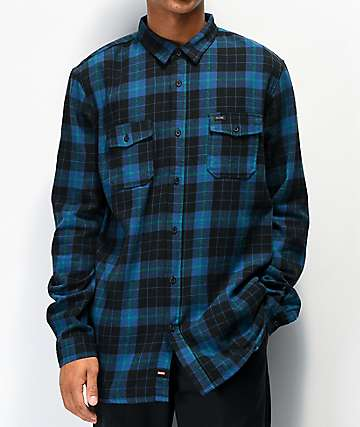 Globe Flanigan Dark Blue Flannel Shirt