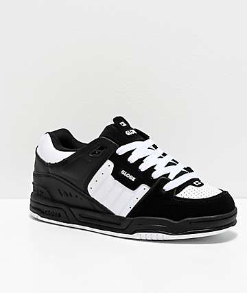 Globe Fusion Black & White Skate Shoes