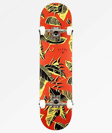 "Globe G1 Full On Fire Fossil 8.0"" Skateboard Complete"