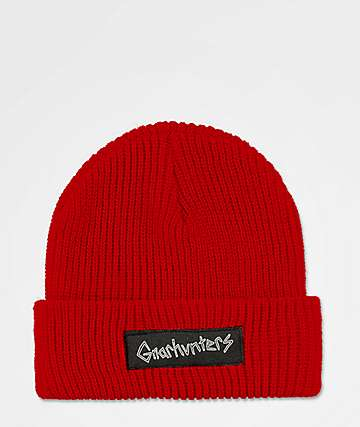 Gnarhunters Big Logo Red Beanie