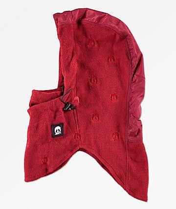 Gnarly Burgundy Facemask Hood