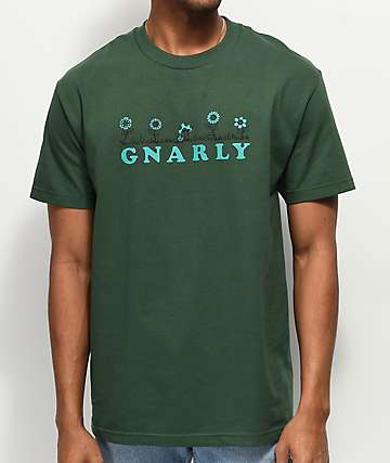Gnarly Flower Bed Green T-Shirt