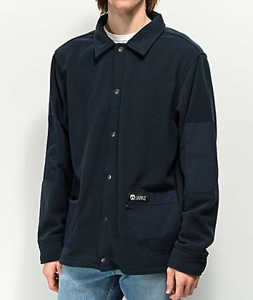 Gnarly OG Shacket Navy Fleece Jacket