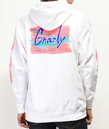 Gnarly Refresh White Hoodie