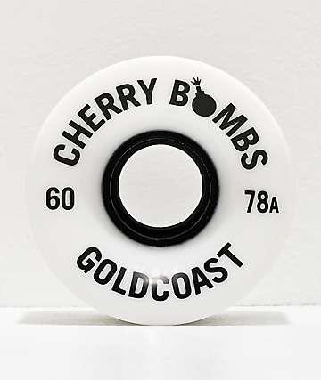Gold Coast Cherry Bombs 60mm 78a White Cruiser Wheels