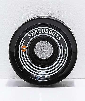 Gold Coast Shred Boots Jet Black 70mm 85a Longboard Wheels