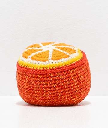 Guatemalart Orange Crochet Hacky Sack