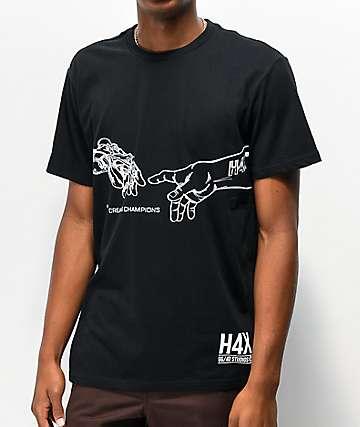 H4X Creation camiseta negra
