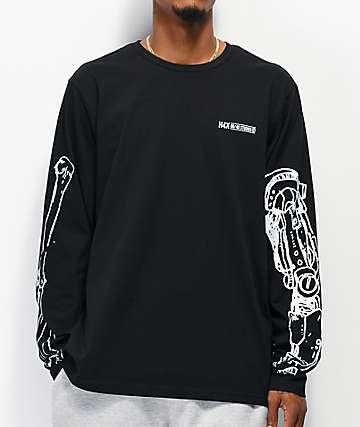 H4X Robot Arm camiseta negra de manga larga