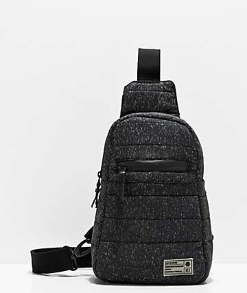 HEX bolso de hombro negro reflectante