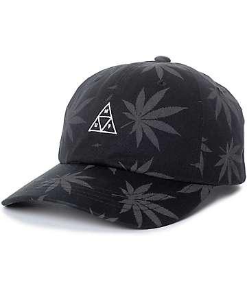 HUF 420 Triple Triangle Black Strapback Hat