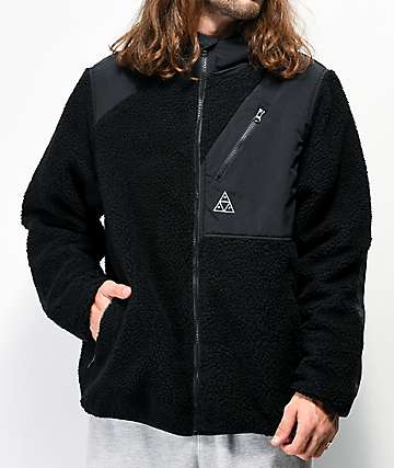 HUF Aurora Black Tech Fleece Jacket
