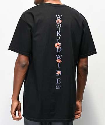 HUF Bloom camiseta negra