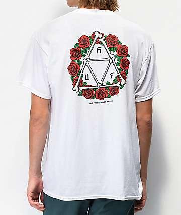 HUF Bones & Roses White T-Shirt