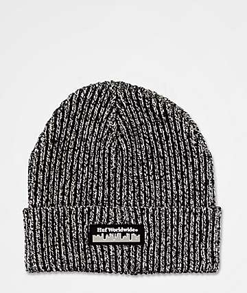 HUF Boroughs Marled Black Beanie