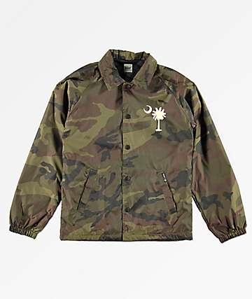 HUF Boys Spirit Camo Coaches Jacket