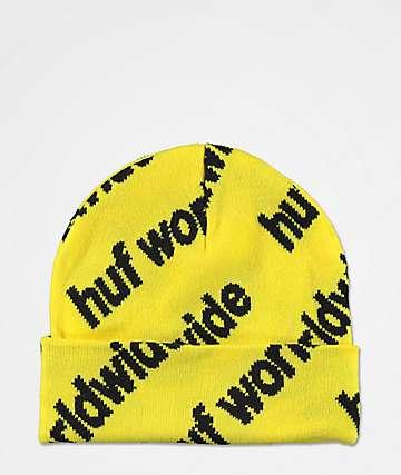 HUF Campaign Blazing Yellow Beanie