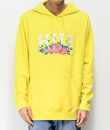 HUF City Roses Yellow Hoodie