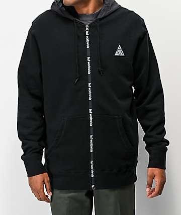 HUF Conceal Black Zip Hoodie