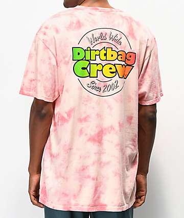 HUF DBC Cotton Candy camiseta tie dye rosa