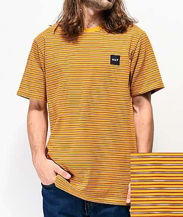 HUF Dazed camiseta de punto dorado