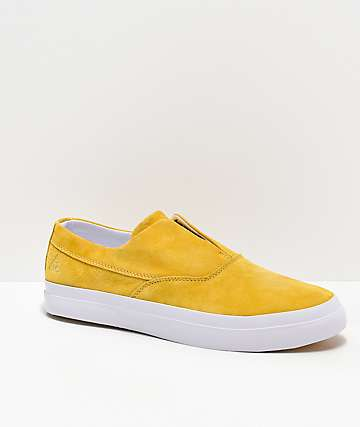 HUF Dylan Slip-On Yellow & White Skate Shoes