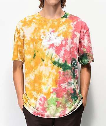HUF Further camiseta tie dye naranja