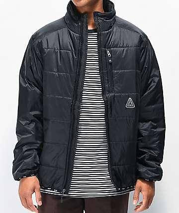 HUF Geode Black Puffer Jacket