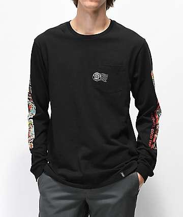 HUF Greetings Black Long Sleeve T-Shirt