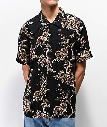 HUF Highline Black Short Sleeve Button Up Shirt