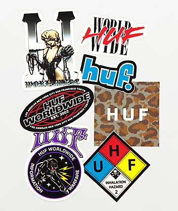 HUF Logo Sticker Pack