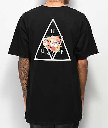 HUF Memorial Triangle Black T-Shirt