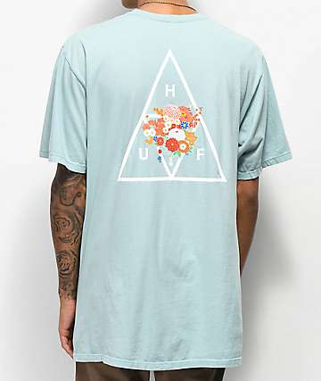 HUF Memorial Triangle camiseta azul