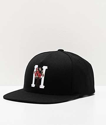 HUF Memorium Black Snapback Hat