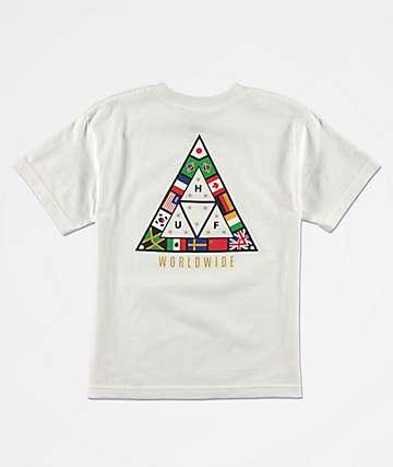 HUF Nations camiseta blanca para niños