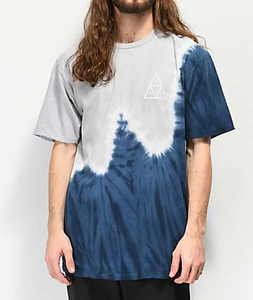 HUF Peak Indigo & Grey Tie Dyed T-Shirt