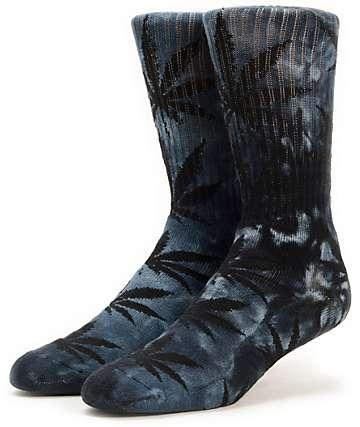 HUF Plantlife Black Tie Dye Crew Socks