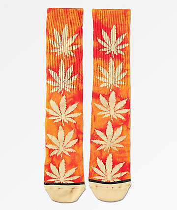 HUF Plantlife Crystal Wash Cayenne Crew Socks