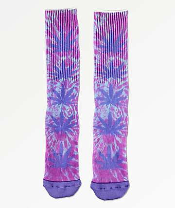 HUF Plantlife Digital Dye Blue Iris Crew Socks