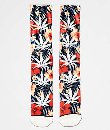 HUF Plantlife Digital Insignia Blue & Red Crew Socks