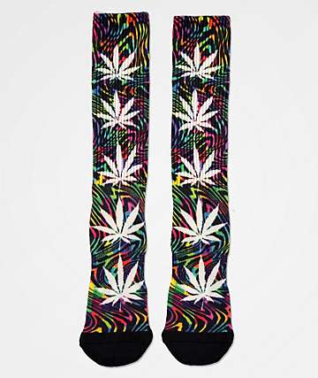 HUF Plantlife Good Trip Black & Multicolor Crew Socks